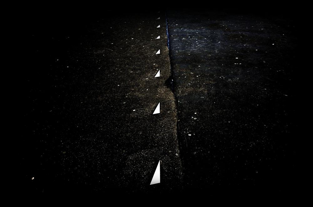 Signalisation sur un trottoir