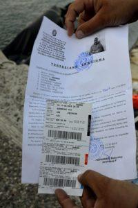 Un laisser passer pour migrant délivré sur l'île de Kos Grèce
