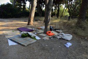 Kos Grèce centre ville après le départ des migrants